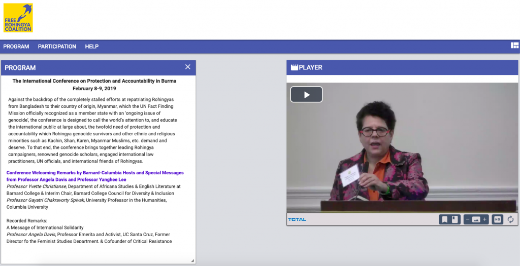 View the entire set of proceedings of the International Conference on Burma's Accountability and Protection,  Barnard College, NYC, 8-9 Feb 2019